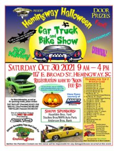 Hemingway BBQ Shag Fest. Car, Truck & Bike Show @ In Front Of Haselden Bros. Ford