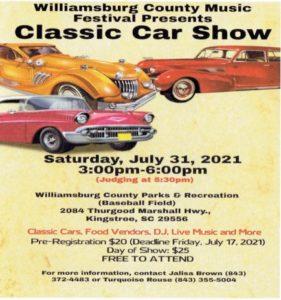 Kingstree Car And Music Festival @ Willamsburg Cty Parks & Rec (Baseball Field)
